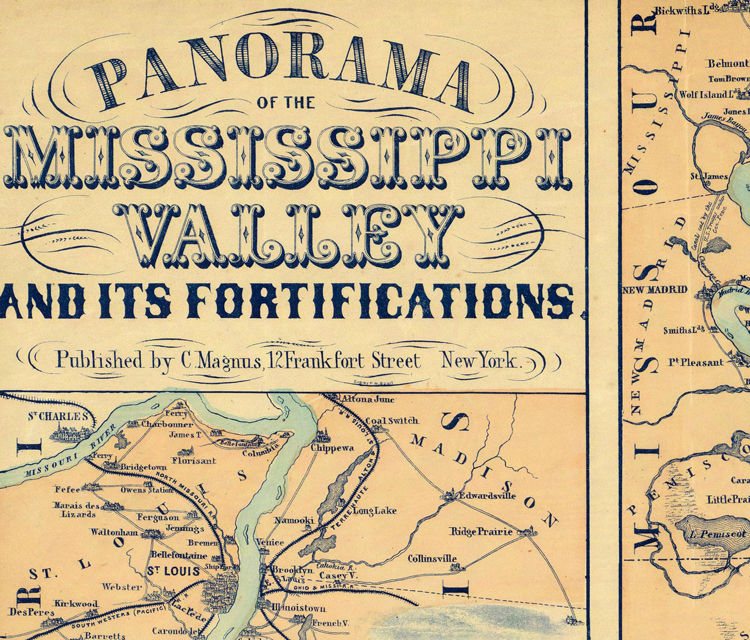 Mississippi Valley and its fortifications 1863 - product image