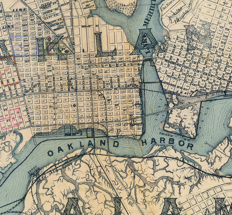 Old map Oakland California 1884 - product image