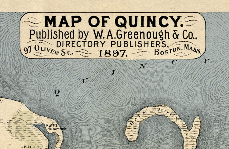 Old Map of Quincy 1897 Massachusetts - product images  of