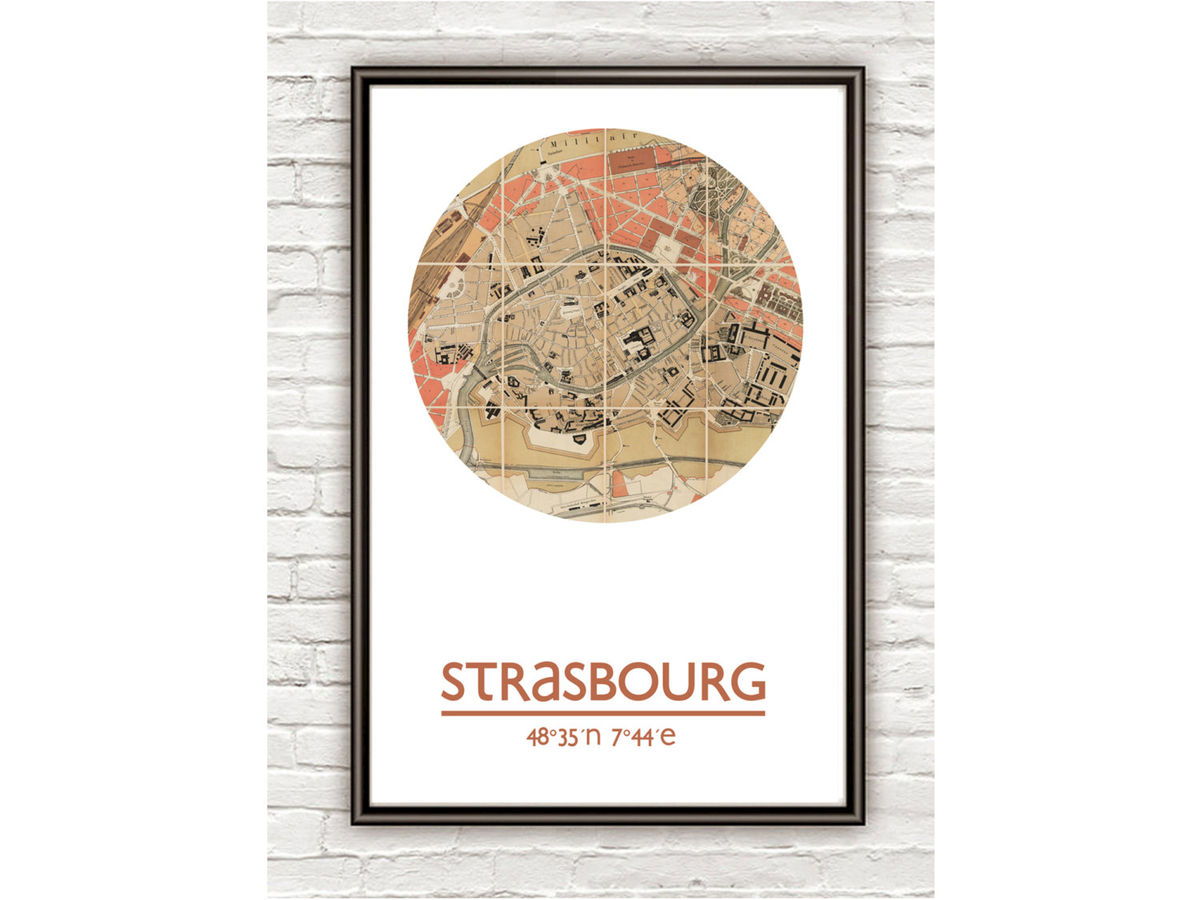 STRASBOURG - city poster - city map poster print - product images  of