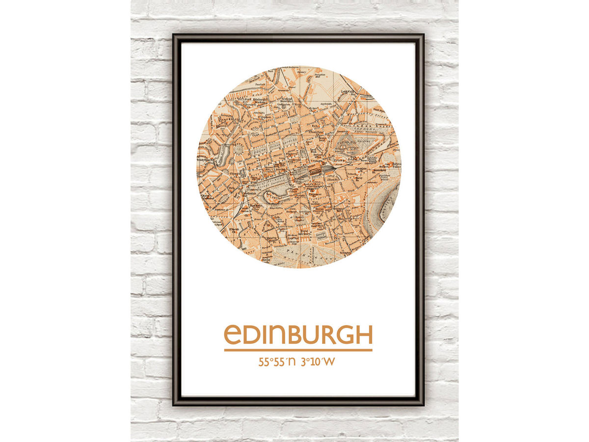 EDINBURGH - city poster - city map poster print - product images  of