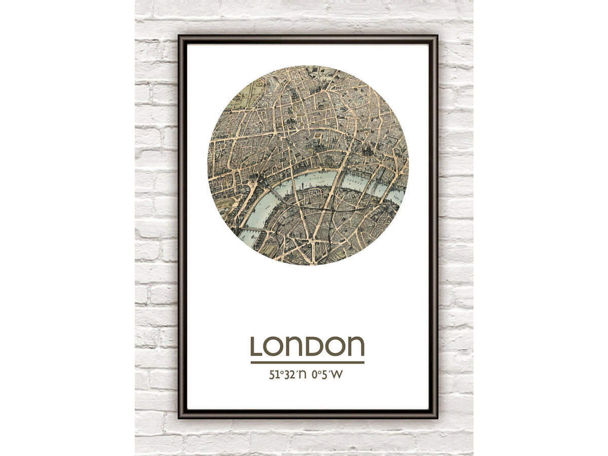 LONDON - city poster (2) - city map poster print - product images  of