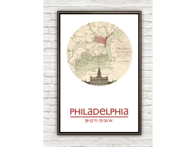 PHILADELPHIA - city poster - city map poster print - product image