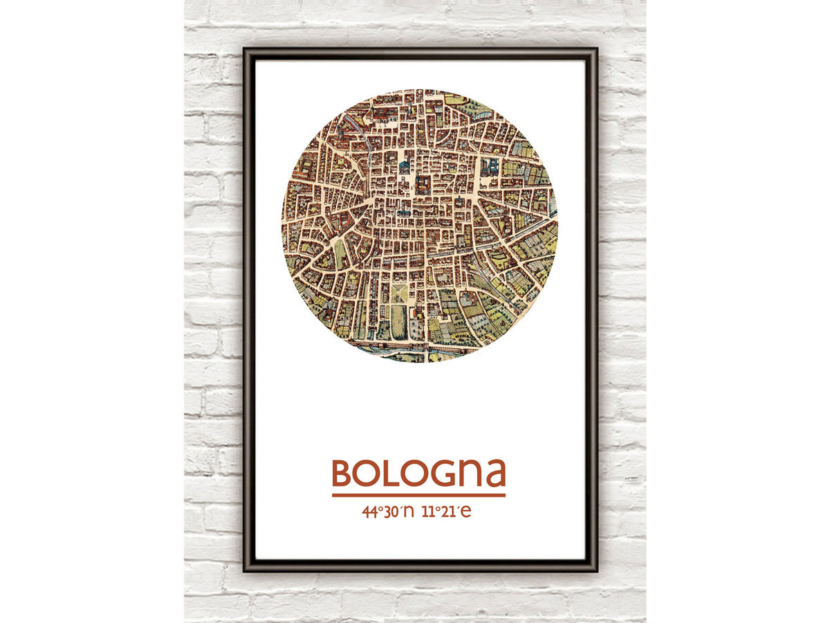 BOLOGNA - city poster - city map poster print - product images  of