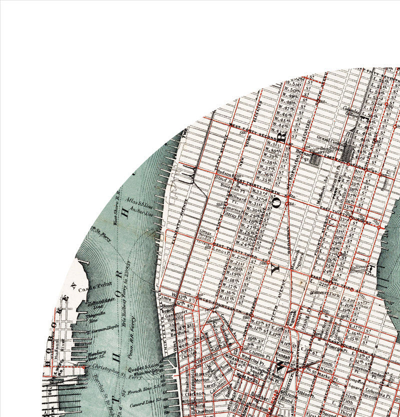NEW YORK - city poster - city map poster print - product images  of