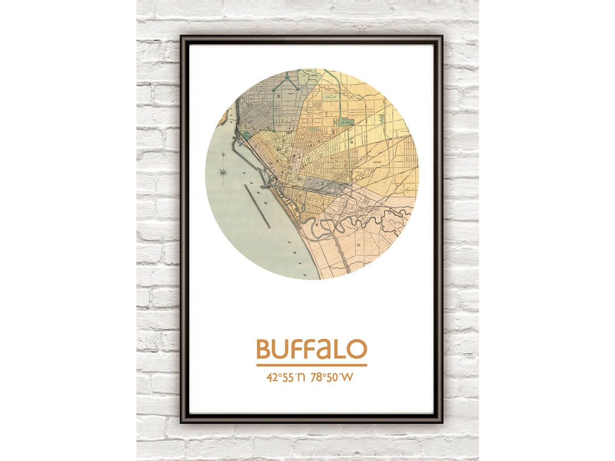 BUFFALO - city poster - city map poster print - product images  of