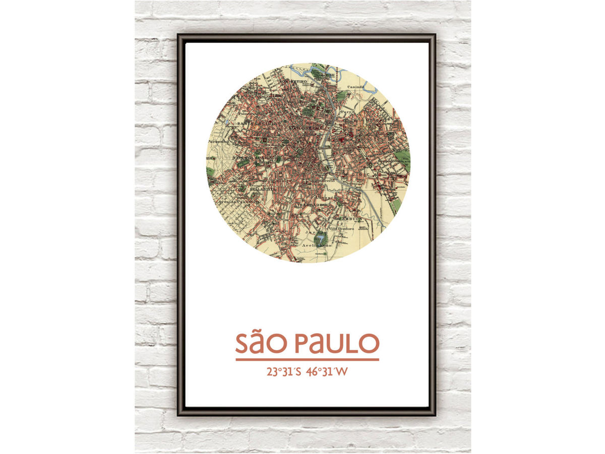 SÃO PAULO - city poster - city map poster print - product images  of