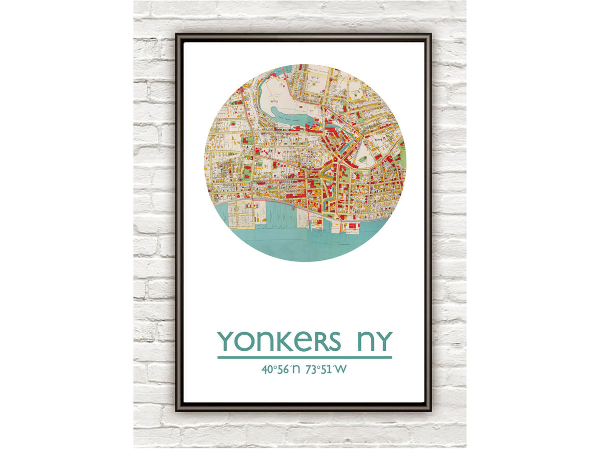 YONKERS - city poster - city map poster print - product images  of