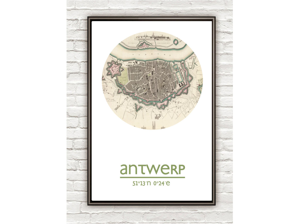 ANTWERP - city poster - city map poster print - product images  of