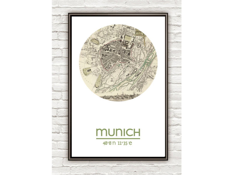 MUNICH - city poster - city map poster print - product image