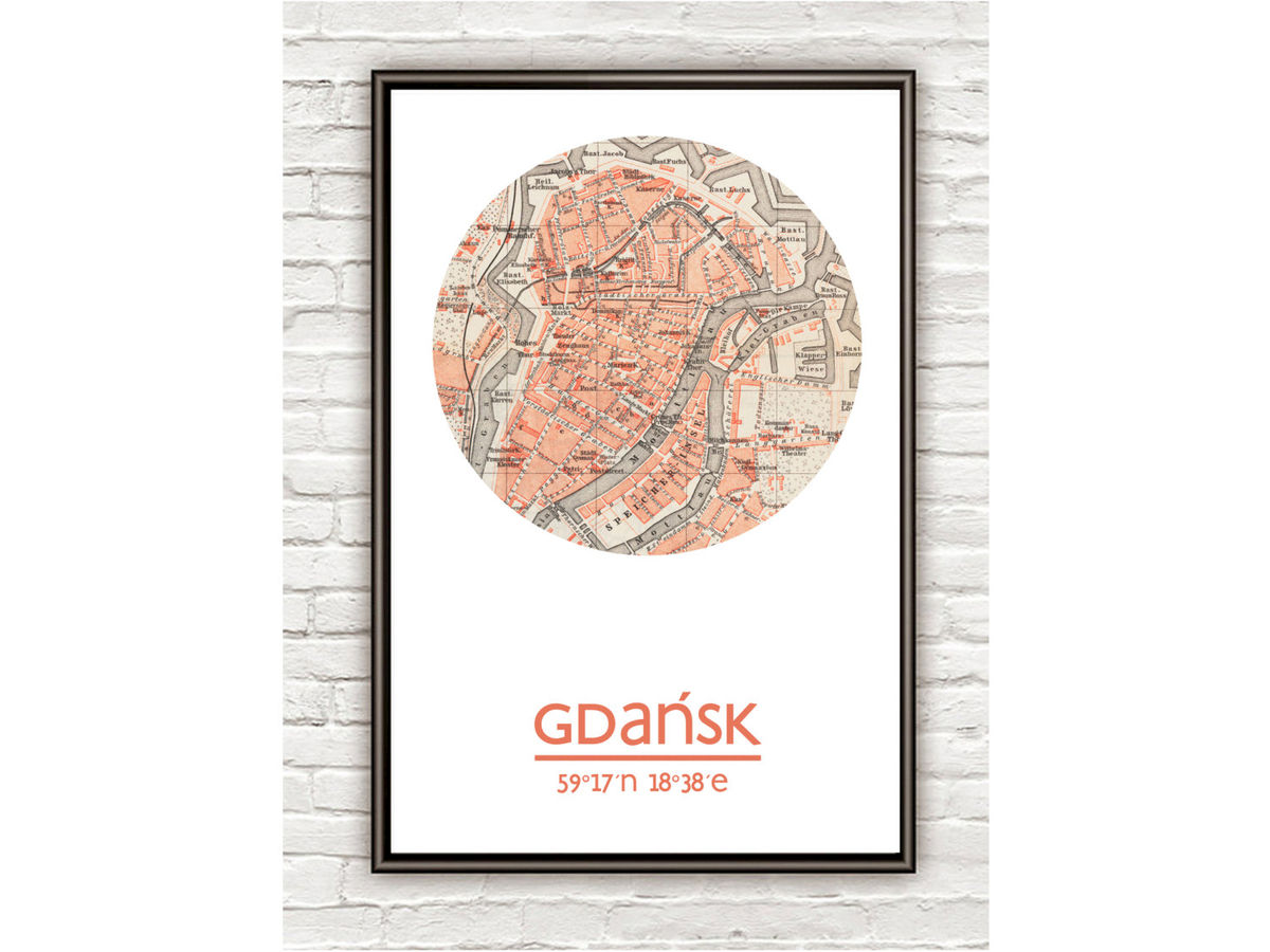 GDANSK - city poster - city map poster print - product images  of