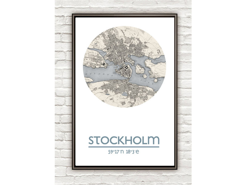 STOCKHOLM - city poster - city map poster print - product image