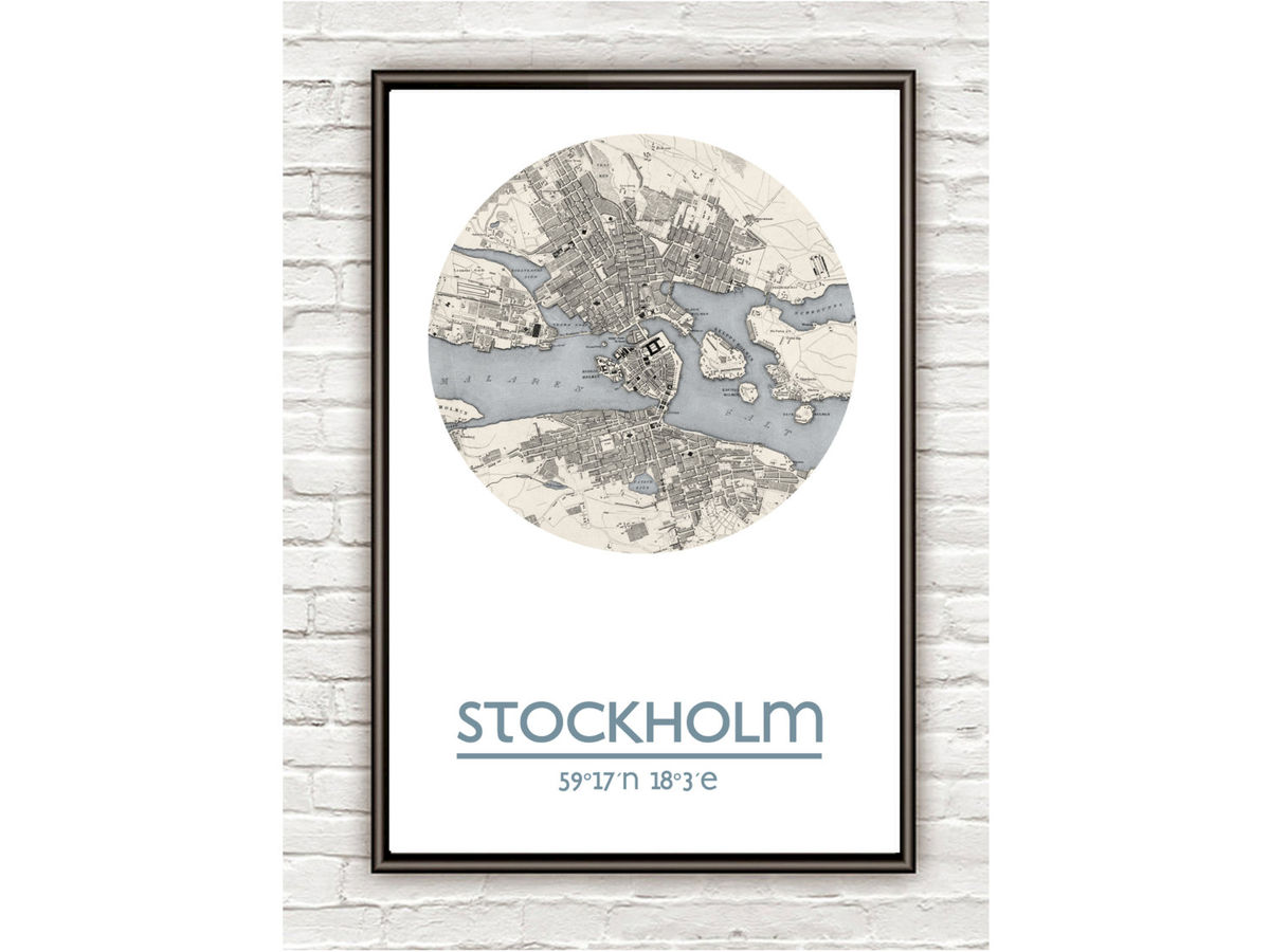 STOCKHOLM - city poster - city map poster print - product images  of