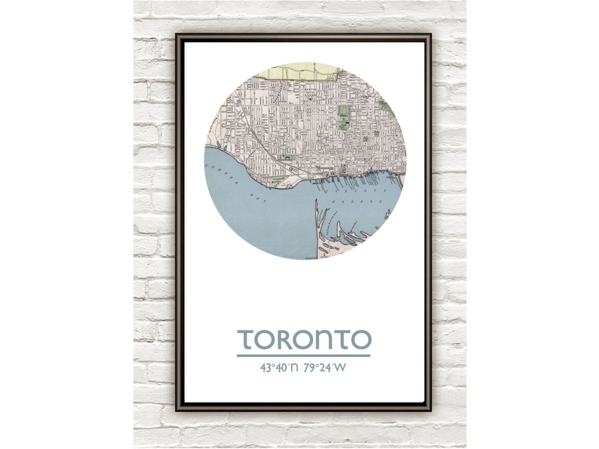 TORONTO - city poster - city map poster print - product images  of