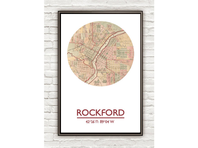 ROCKFORD - city poster - city map poster print - product image