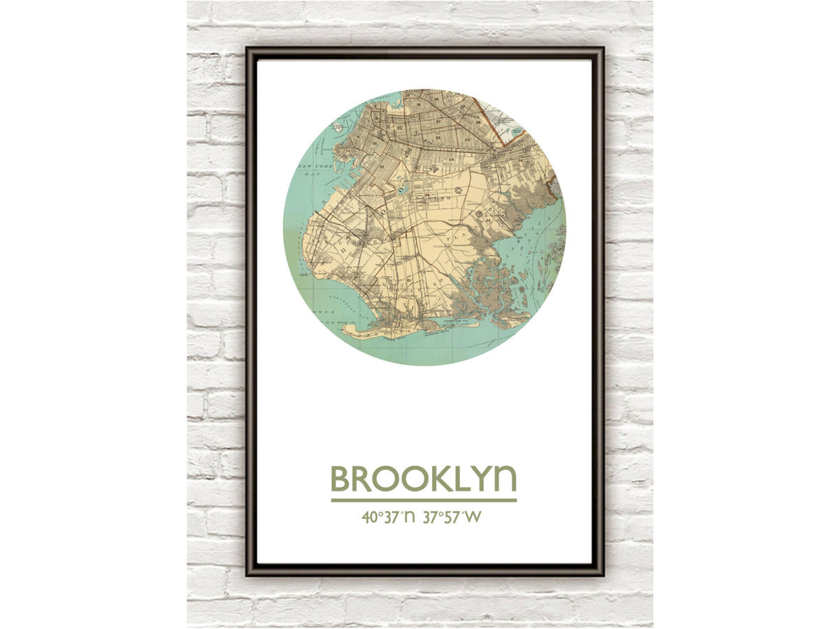 BROOKLYN - city poster - city map poster print - product images  of
