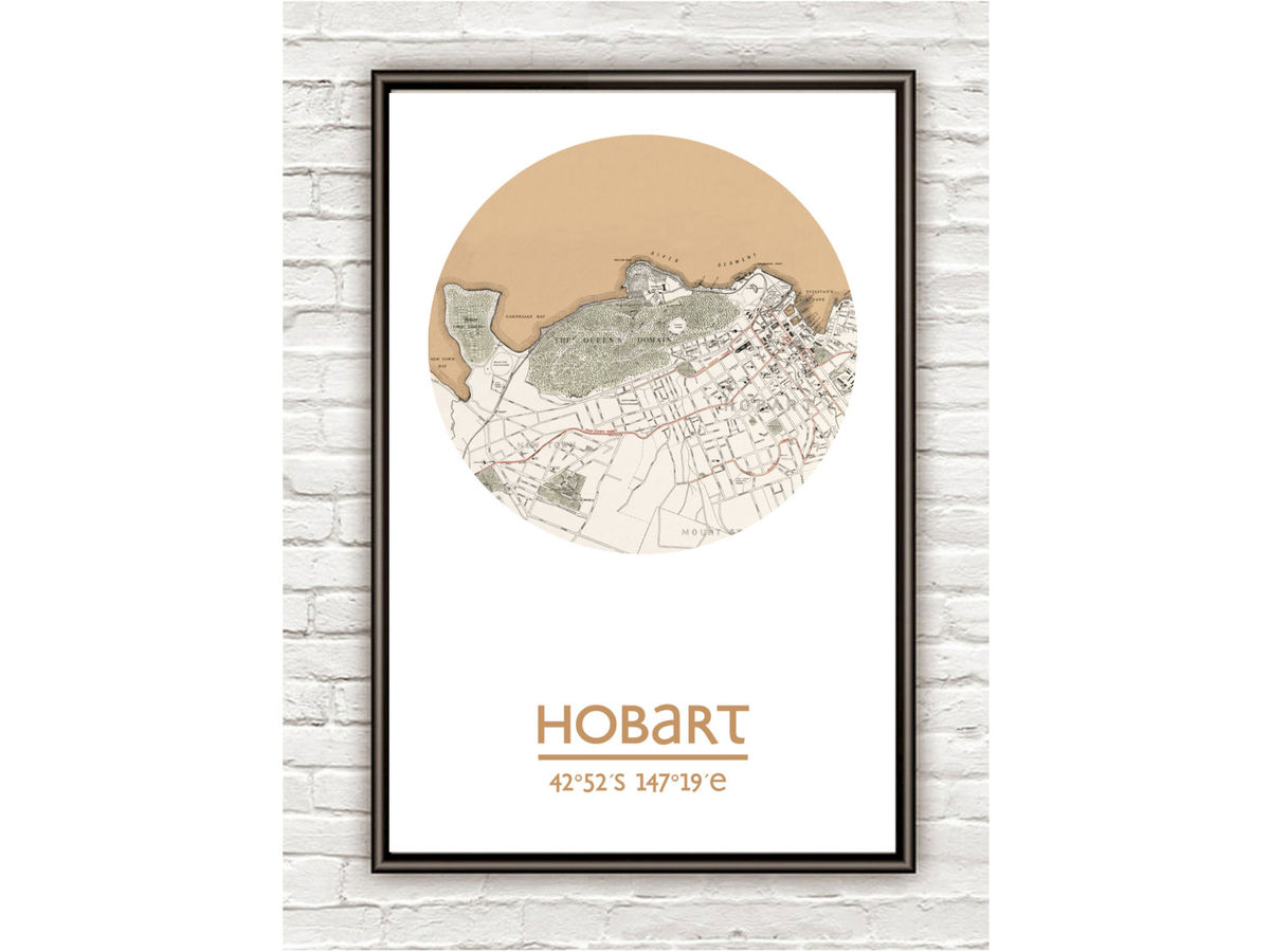 HOBART - city poster - city map poster print - product images  of