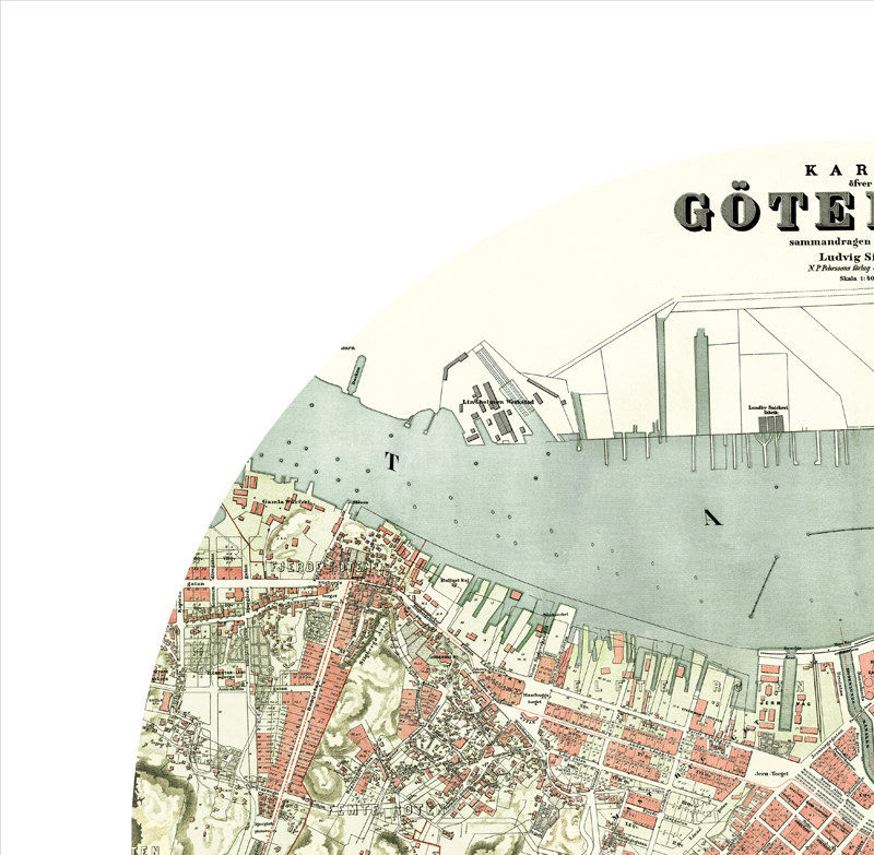 GOTHENBURG - city poster - city map poster print - product images  of