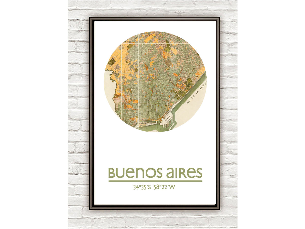 BUENOS AIRES - city poster - city map poster print - product images  of