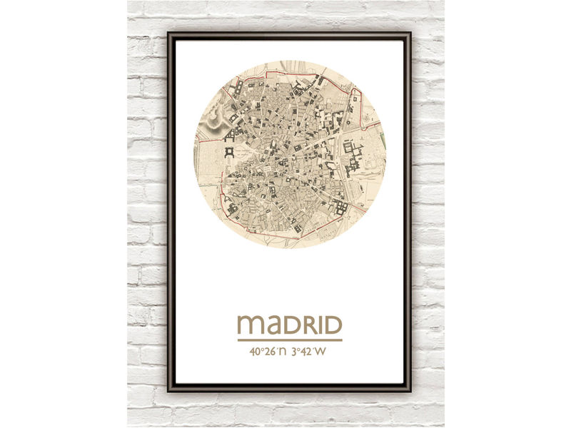 MADRID - city poster - city map poster print - product image
