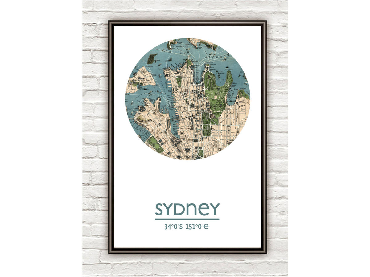 SYDNEY - city poster - city map poster print - product images  of