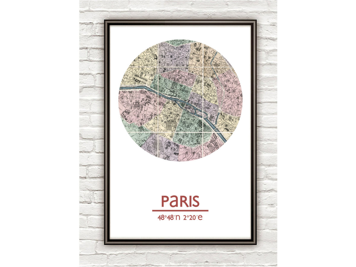 PARIS - city poster - city map poster print - product images  of