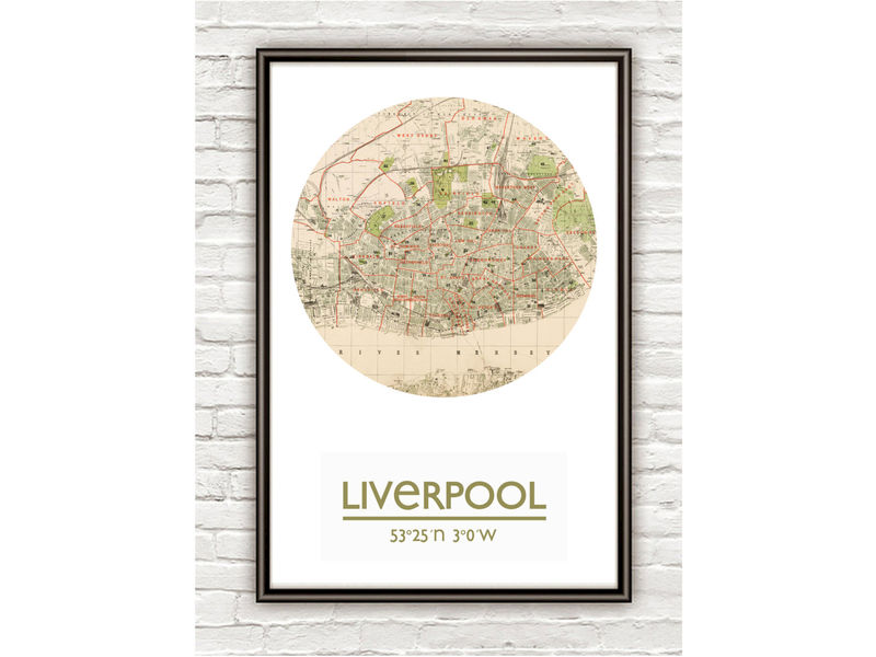 LIVERPOOL - city poster - city map poster print - product image