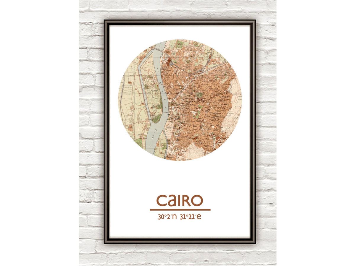 CAIRO - city poster - city map poster print - product images  of