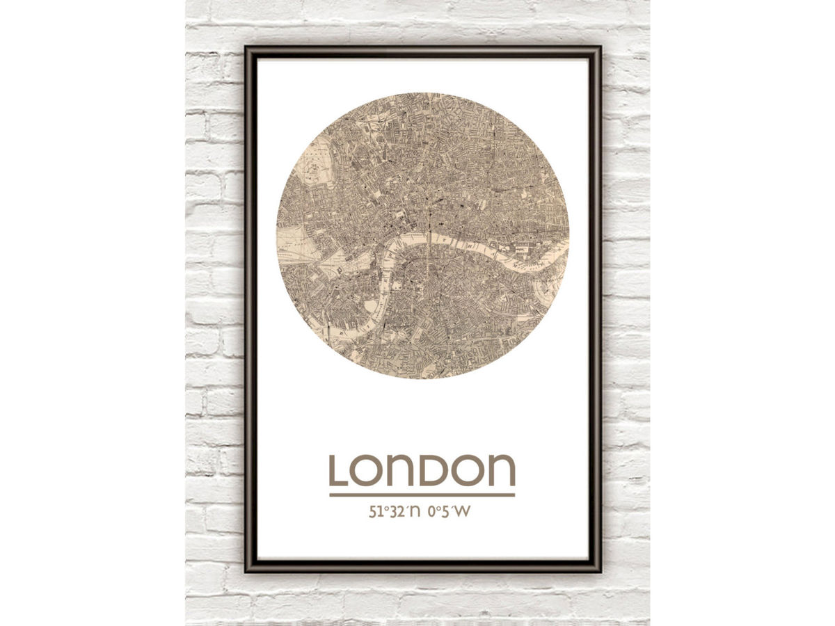 LONDON - city poster - city map poster print - product images  of