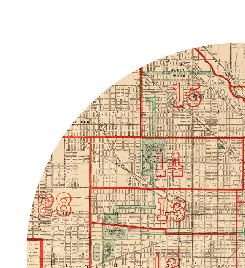 CHICAGO - city poster - city map poster print - product images  of