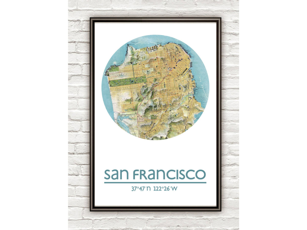 SAN FRANCISCO - city poster - city map poster print - product images  of