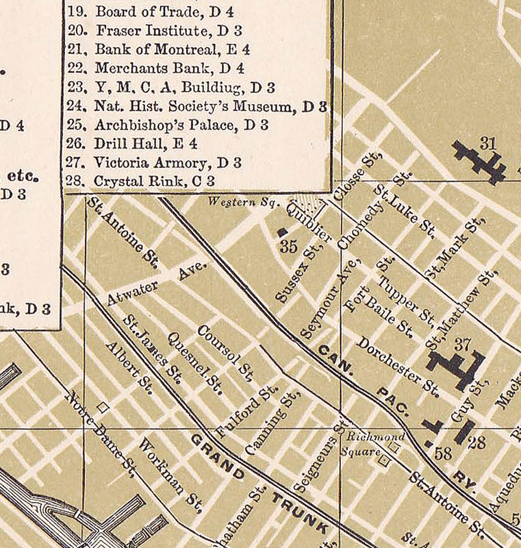 Old Map of Montreal, Canada 1894  - product image