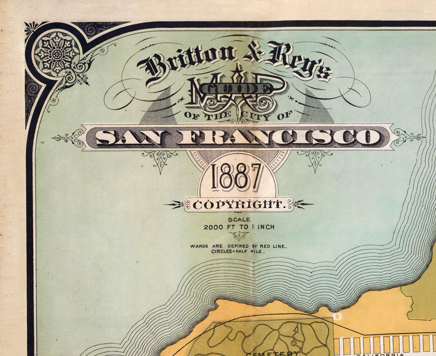 Old Map of San Francisco 1887 Vintage Map  - product images  of