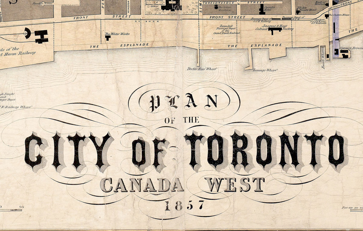 Old Map of Toronto Ontario Canada 1857 Vintage map of Toronto - product images  of