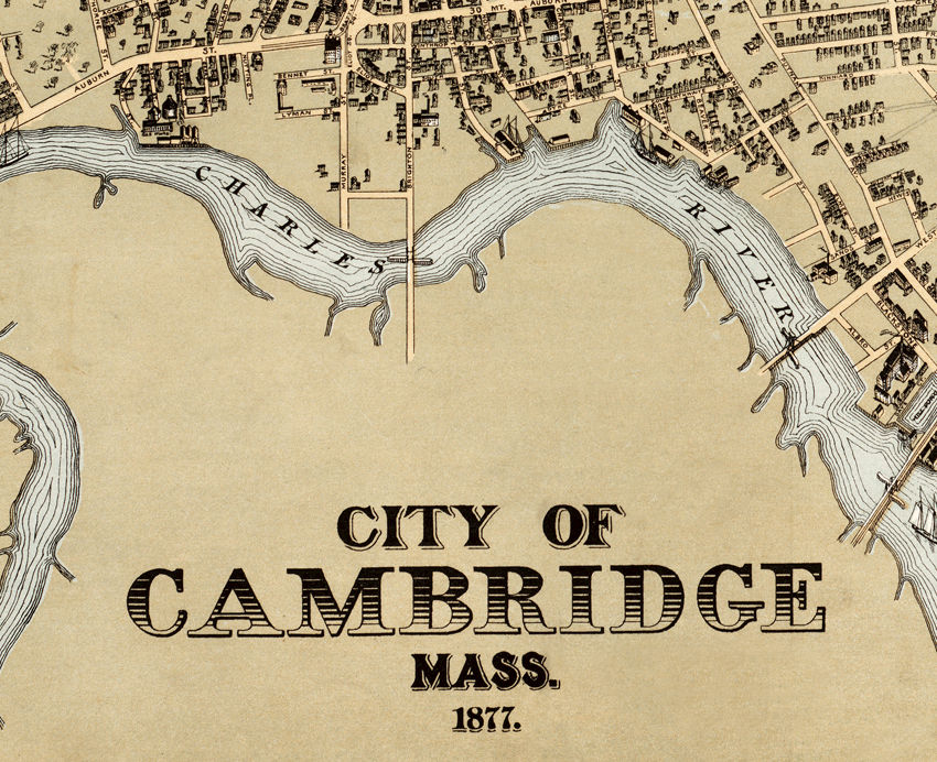 Cambridge Massachusetts 1877 Panoramic View - product images  of
