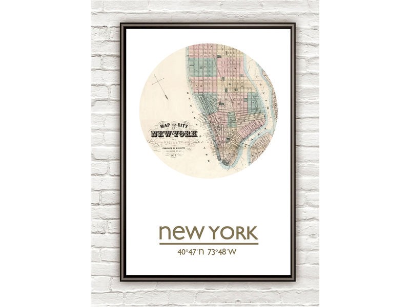 NEW YORK (2)  - city poster - city map poster print - product image