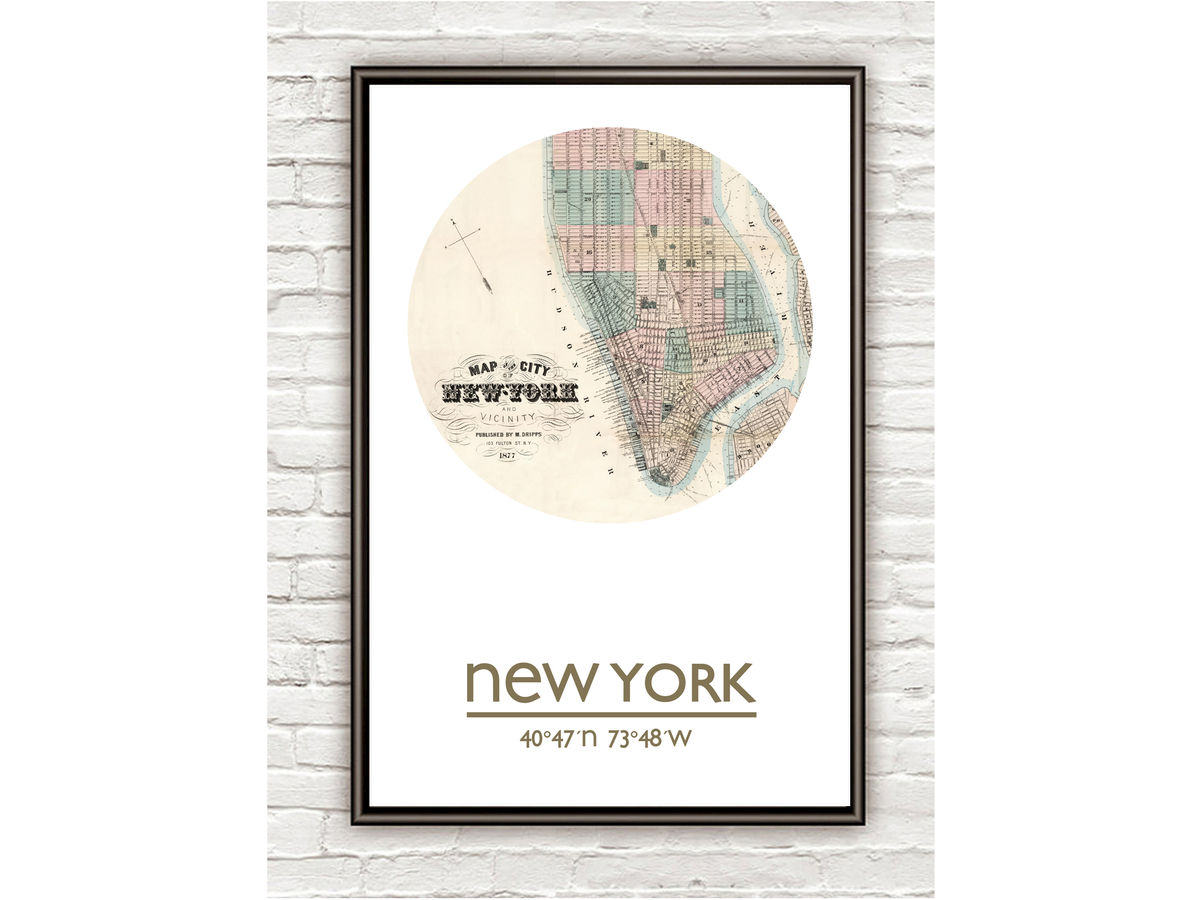 NEW YORK (2)  - city poster - city map poster print - product images  of