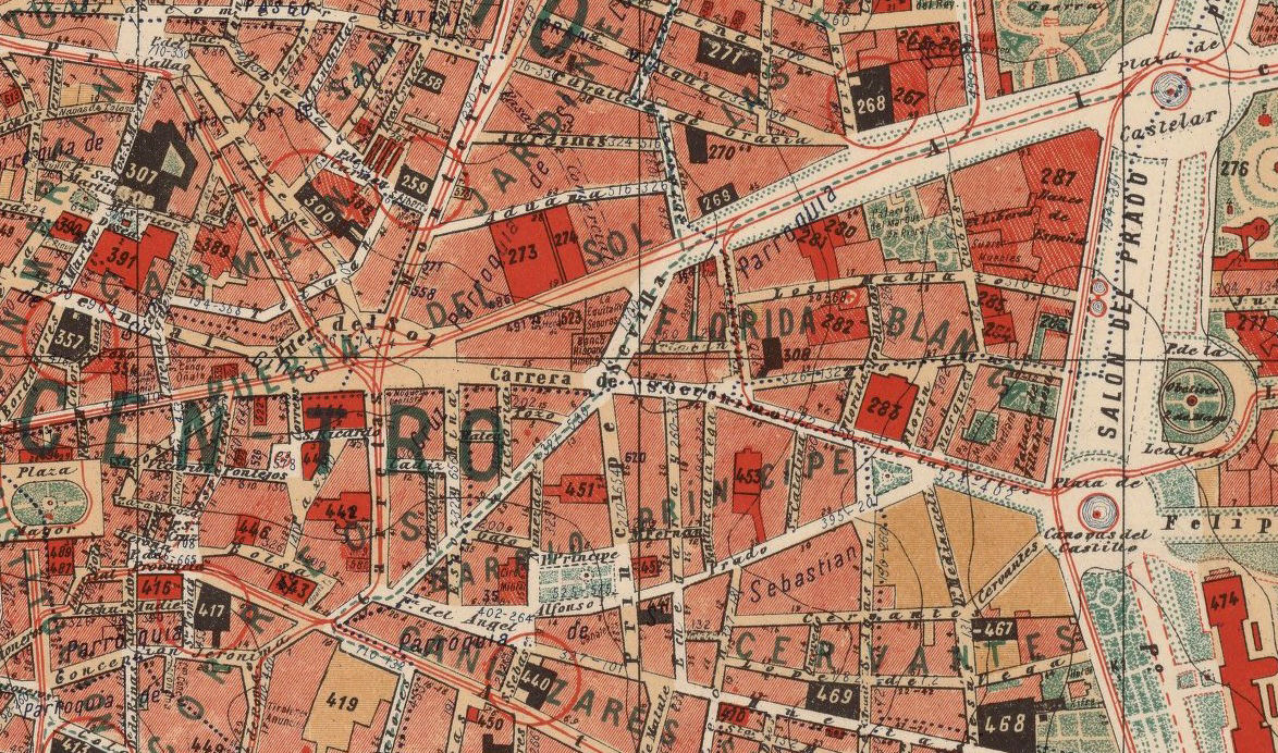 Old Map of Madrid and environs 1902, Spain Espana - product images  of