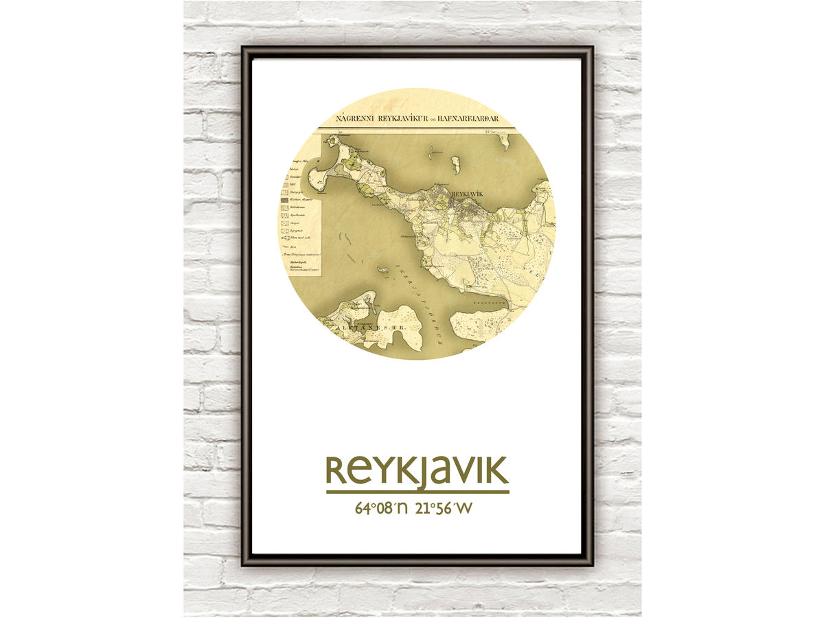 REYKJAVIK - city poster - city map poster print - product images  of