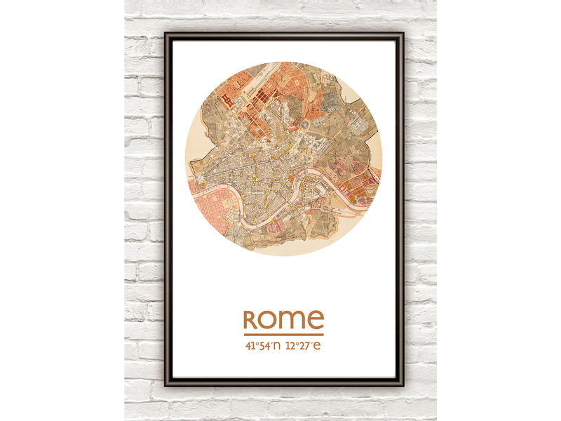 ROME - city poster - city map poster print - product image