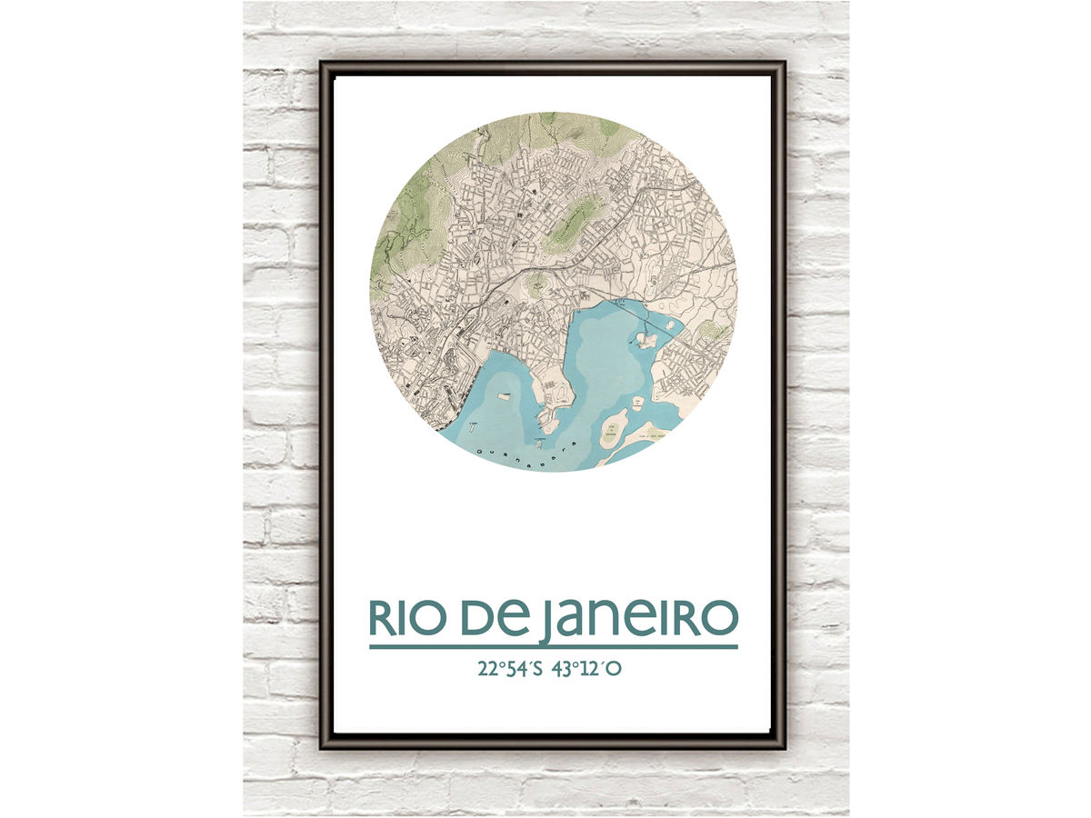 RIO DE JANEIRO - city poster - city map poster print - product images  of