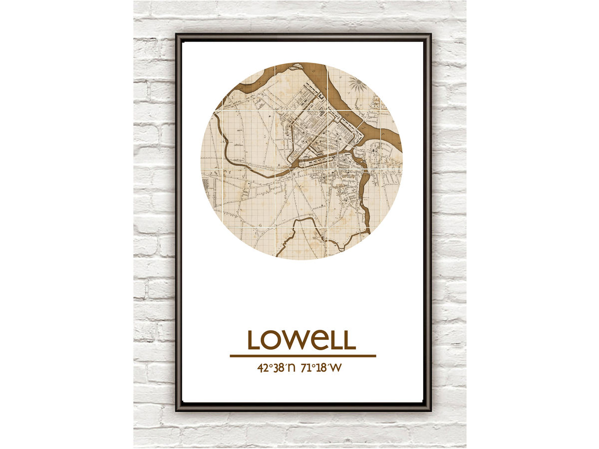 LOWELL - city poster - city map poster print - product images  of