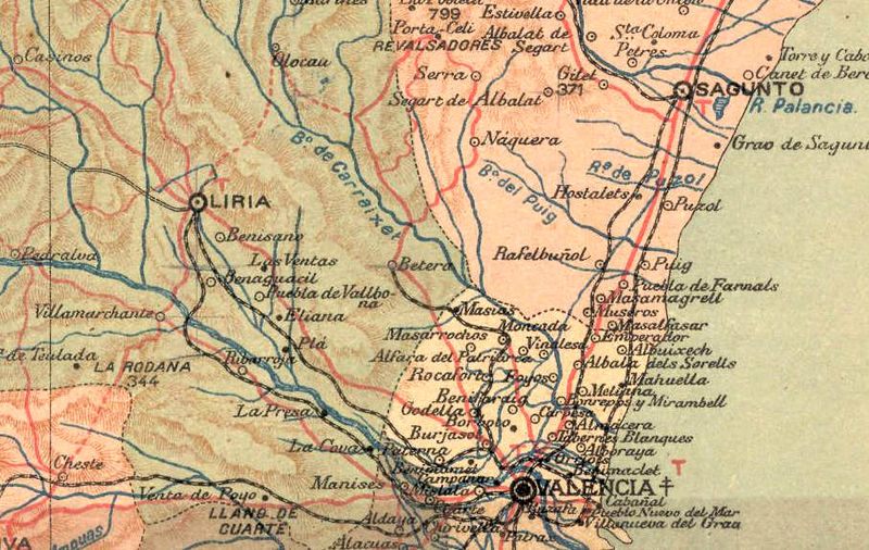 Old Map of Valencia 1900 Spain - product image