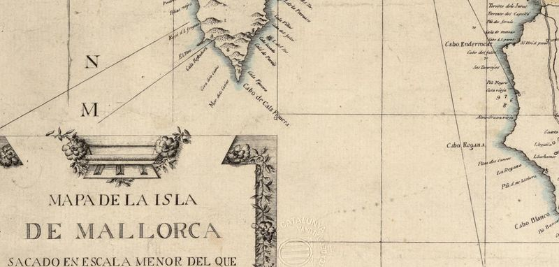 Old Map of mallorca maiorca spain 1814 - product image