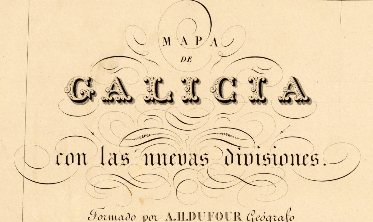 Old Map of Galicia Galiza Espana 1837 Spain - product images  of