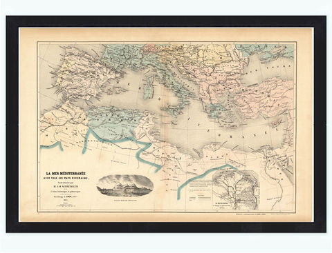 Old,Map,of,Mediterranean,Sea,1862,italy,italie,mediterranean_sea,Vintage_map,vintage_poster,old_map,antique map, mediterranean sea,old_map_of_italy,antique_map_italy,map_poster, mediterranean map
