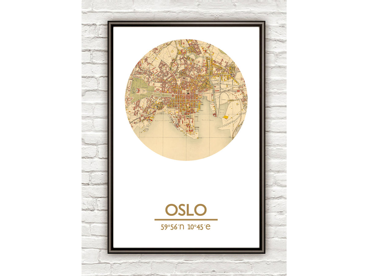 OSLO - city poster - city map poster print - product images  of