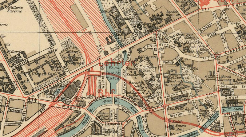 Old Map of Berlin, Germany 1904 Antique Vintage - product image