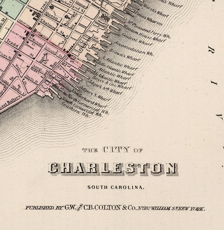 Vintage map of Savannah and Charleston GA Georgia 1886 - product image