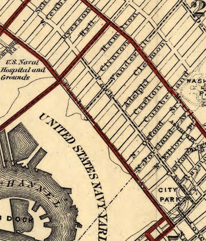 Old Map of Brooklyn 1874 - product image